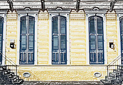 French Quarter Digital Art - Classic French Quarter Residence New Orleans Colored Pencil Digital Art by Shawn O'Brien
