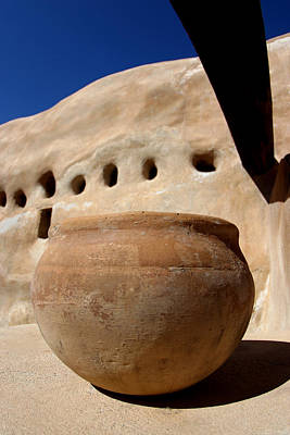 Kiva Photograph - Clay Pot by Carol Leigh
