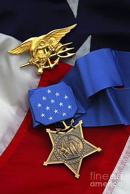 Greatness Photograph - Close-up Of The Medal Of Honor Award by Stocktrek Images