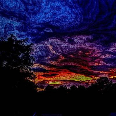 Impressionism Photograph - Cloudy Night by Austin Engel