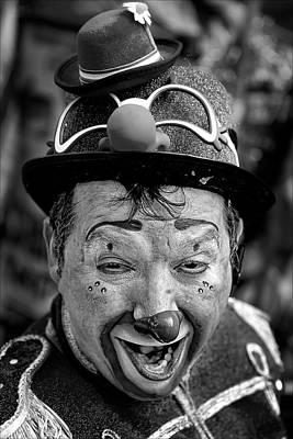 Roaring Red - Clown at Three Kings Parade 1 6 12 El Museo del Barrio by Robert Ullmann