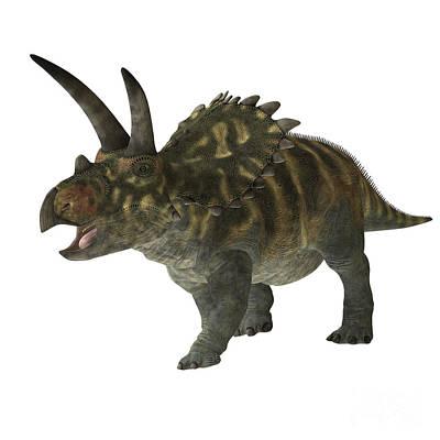 Triassic Digital Art - Coahuilaceratops Dinosaur by Corey Ford