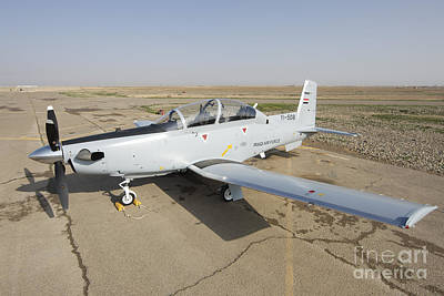 Farm Life Paintings Rob Moline - Cob Speicher, Tikrit, Iraq - A T-6 by Terry Moore