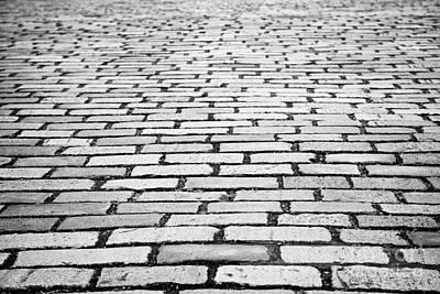 Cobblestoned Street In Central Glasgow Scotland Uk Art Print by Joe Fox