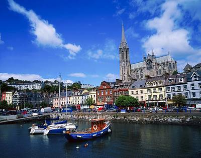Cobh Cathedral & Harbour, Co Cork Art Print