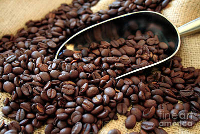 Coffee Beans Art Print by Darren Fisher