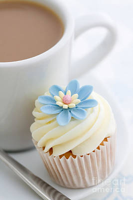 Blue Cup Of Tea Photograph - Coffee Break by Ruth Black