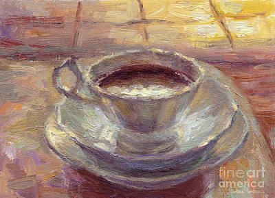 Buy Oil Painting - Coffee Cup Still Life Painting by Svetlana Novikova