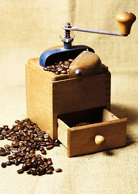 Kaffee Photograph - Coffee Mill by Falko Follert