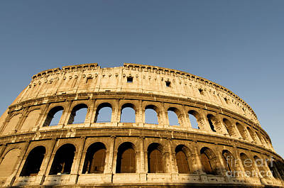 Coliseum. Rome Art Print by Bernard Jaubert
