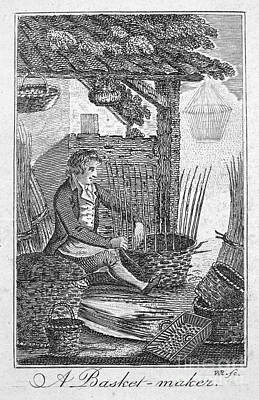 Colonial Basketmaker Art Print by Granger