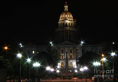 Photograph - Colorado Capitol At Night by David Bearden