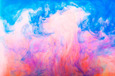 Changing Form Photograph - Colorful Dyes In Water by Diane Macdonald