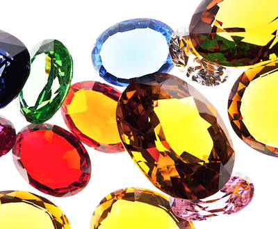 Gemstone Photograph - Colorful Gems by Setsiri Silapasuwanchai