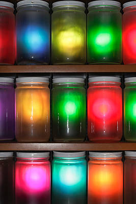 Pantries Photograph - Colorful Jars by Tom Gowanlock