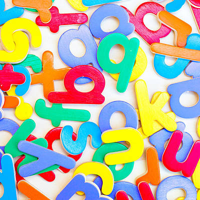Multi Colored Photograph - Colorful Letters by Tom Gowanlock