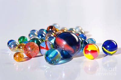Colorful Marbles Art Print by Carlos Caetano