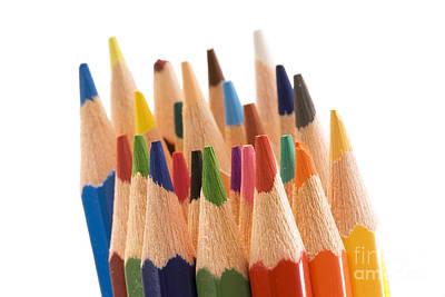 Colorful Pencils Art Print by Soultana Koleska