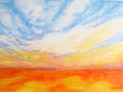 Nature Painting - Colorful Sunset by Zara GDezfuli