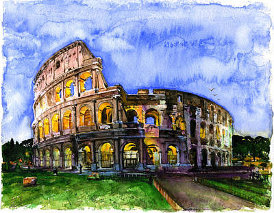 Painting - Colosseum by John D Benson