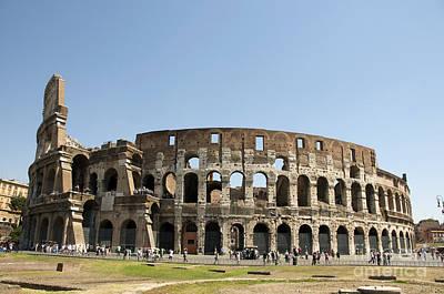 During Photograph - Colosseum. Rome by Bernard Jaubert