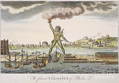 Helios Photograph - Colossus Of Rhodes by Granger