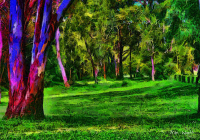 Digital Art - Colourful Parkland by Fran Woods