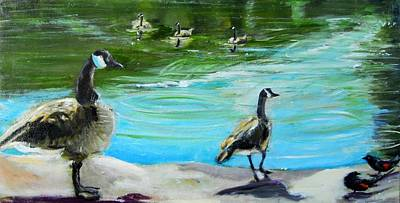 Canadian Geese Painting - Coming Home by Terrence  Howell