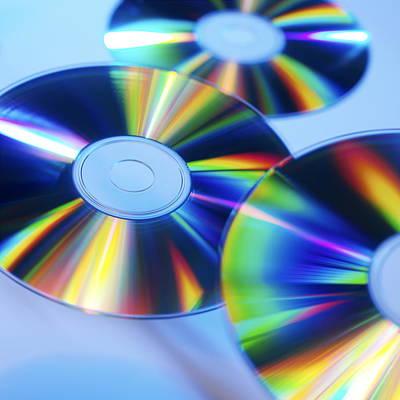 Compact Disc Photograph - Compact Discs by Tek Image