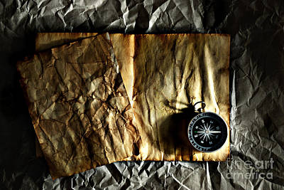 Compass Art Print by HD Connelly