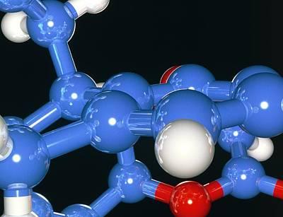 Computer Artwork Of Part Of A Molecule Art Print by Laguna Design