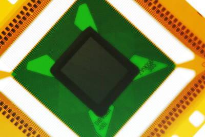 Processor Photograph - Computer Microchip by Pasieka