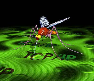 Computer Virus Art Print