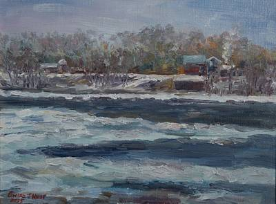 Painting - Connecticut River Thaw by Edward White