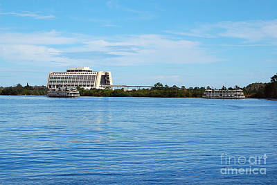 Photograph - Contemporary Resort Profile Walt Disney World Prints by Shawn O'Brien
