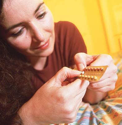 Oral Sex Photograph - Contraceptive Pills by Tek Image