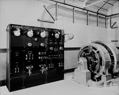 Control Panel And Dynamo Generator Art Print by Everett