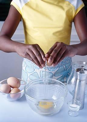 Cooking Scrambled Eggs Art Print