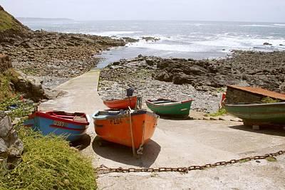 Photograph - Cornish Boats by Ed Lukas