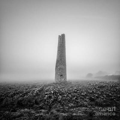 Cornish Mine Chimney Art Print by John Farnan