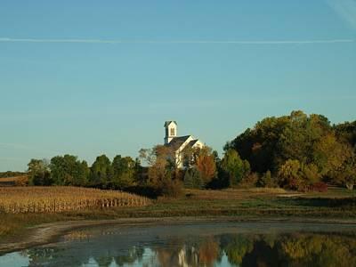 Country Church Dawn Original