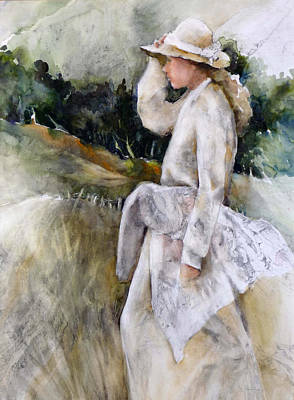 Painting - Country Girl by Joan  Jones