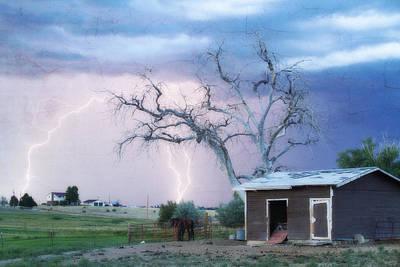 Country Lightning Ne Boulder County Co Fine Art Art Print