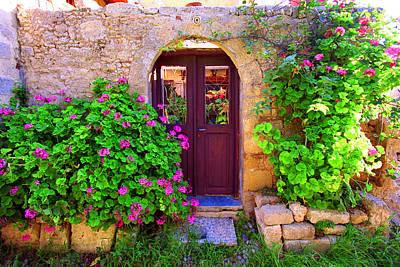 Photograph - Courtyard Door- Kriti by John Galbo
