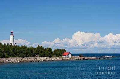 Lighthouse Photograph - Cove Island Lighthouse by Barbara McMahon