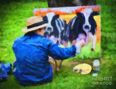 Photograph - Cow Art by Gina Cormier