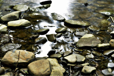 Creekstones Art Print by Mary Frances