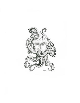Creepy Curiosity Vi Art Print by Jeff Gould