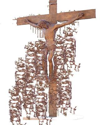 Crucifixion Original by J erik Leiff