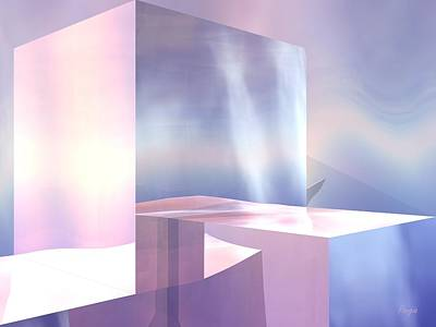 Art Print featuring the digital art Cubes by John Pangia